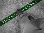 Choosing Happiness — 图库照片