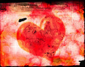 Valentines Heart on Old Paper — Stock Photo