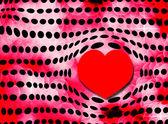 Corazón de burbuja y lunares — Foto de Stock
