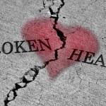 cuore spezzato — Foto Stock