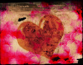 Valentines Heart on Old Paper — Photo