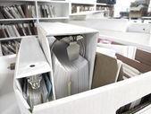 Box of Binders and Files — Stock Photo