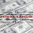 Stock Photo: Foreclosure ane Money