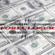 Foreclosure ane Money — Stock Photo