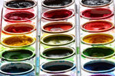 Paint Sets with Smeared Colors — Stock Photo