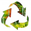 Recycle Symbol with Forest of Autumn Trees — Stock Photo #41712487