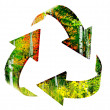 Recycle Symbol with Forest of Autumn Trees — Stock Photo