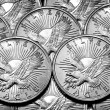 Coins of Silver Eagles — Stock Photo #42002859