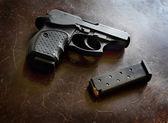 Powerful Handgun and Bullets — Stock Photo