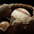 Baseball and Mitt or Glove — Stock Photo #42199907