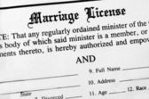 Marriage License — Stock Photo