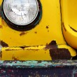 Detail of Old Bumper and Headlight on Truck Car — Stock Photo