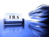 IRS Card with Tax Files — Stock Photo