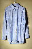 Blue Dress Shirt Hanger — Stock Photo