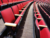 Rows of Red Theater Seats — Stock Photo