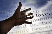 God is Love Scripture in Bible — Stock Photo