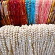 Strands Strings of Beads Necklaces — Stock Photo