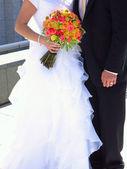 Bruden och brudgummen bröllopsdag — Stockfoto