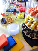 Trays of Party Treats for Celebration — Stock Photo