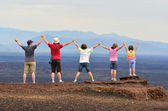Family Enjoying View on Vacation — Stockfoto