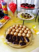 Trays of Party Treats for Celebration — Stock Photo
