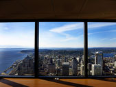 Seattle Buildings City from Observatory — Stock Photo
