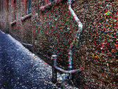 Seattle's Famous Gum Wall  — Stock Photo