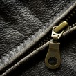 Leather Jacket Zipper — Stock Photo #46281105