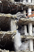 Building Collapsing or Falling Down — Stock Photo