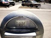 Parking Meter in Lot — Stock Photo