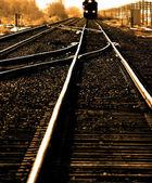 Fast Train on tracks — Stock Photo