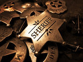 Sheriff's Badge Tin Star Law Enforcement — Stock Photo