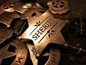 Sheriff's Badge Tin Star Law Enforcement — Stock Photo