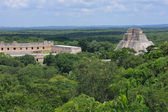 Anicent mayan pyramid — Stock Photo