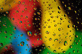 Colorful water drops — Stock Photo