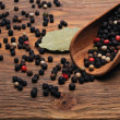 Stock Photo: Peppercorn on the desk