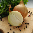 Onion and parsley — Stock Photo #24408533