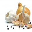 Onion and garlic — Stock Photo
