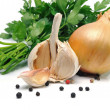 Onion and garlic — Stock Photo #24409057