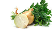 Onion and parsley — Stock Photo
