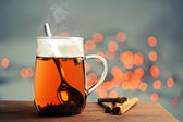 Tea and cinnamon — Stock Photo