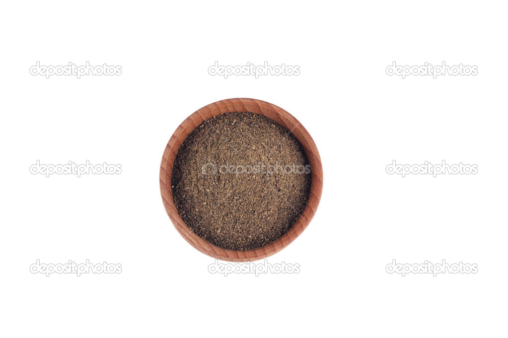 Ground Pepper Ground Pepper in The Wooden