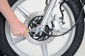 Aanscherping van de wiel — Stockfoto