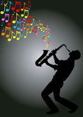 Saxophone player — Stock Vector