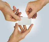 Business card teamwork — Stock Photo
