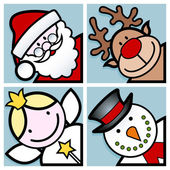 Christmas characters — Vector de stock