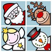 Christmas characters — Stock Vector
