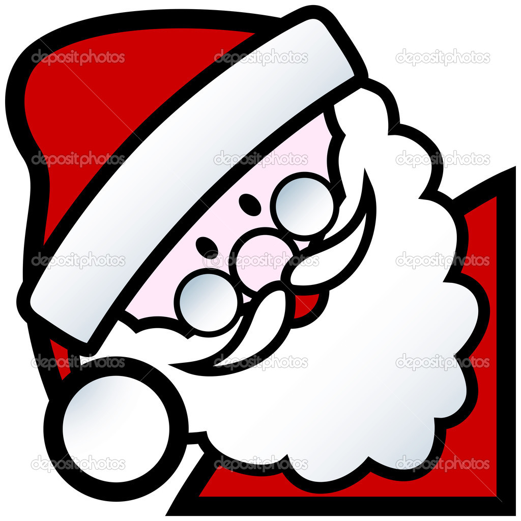 Cartoon of happy smiling father christmas character — Stock Vector #13463823