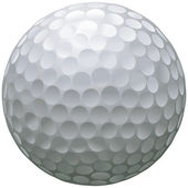 Isolated golf ball — Stock Vector
