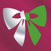 Christmas bow — Stock Vector